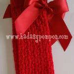 Calceta Calada Lazo - Rojo